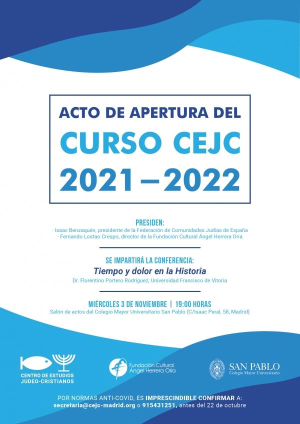 Acto de apertura del Curso 2021/2022 del CEJC